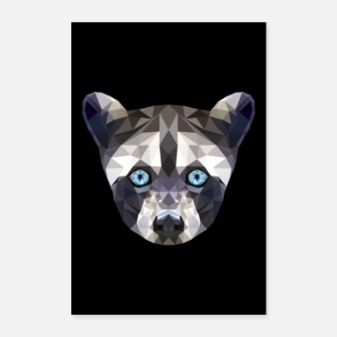 Mascot WASHBAR ANIMAL FACE GIFT BLUE EYES POSTER - Poster 24 x 35 (60x90 cm)