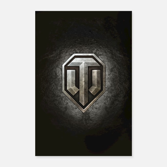 Coole Poster - World of Tanks WoT Logo - Poster Weiß