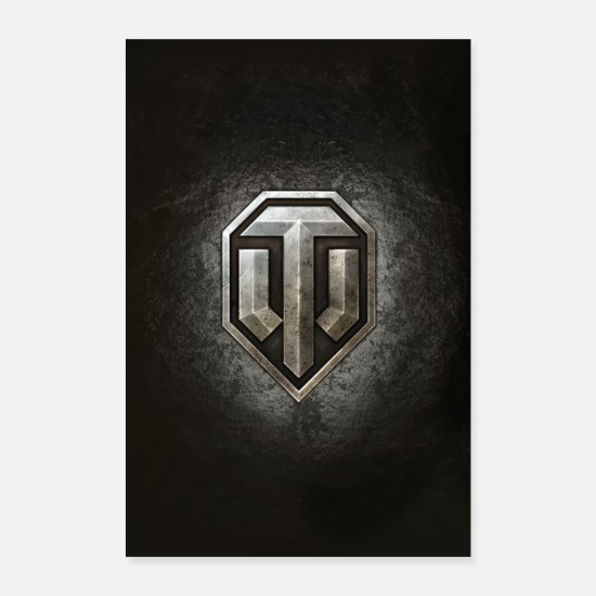 Logo Posters - World of Tanks WoT logo - Posters white