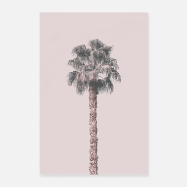 Palm Trees Pink Palm Tree - Poster 24 x 35 (60x90 cm)