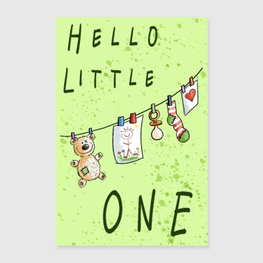 Hello Little One Baby Poster - Poster 60x90 cm