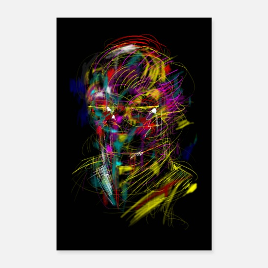 Homedecor Posters - Sci-Fi Transformer Portrait - Posters white
