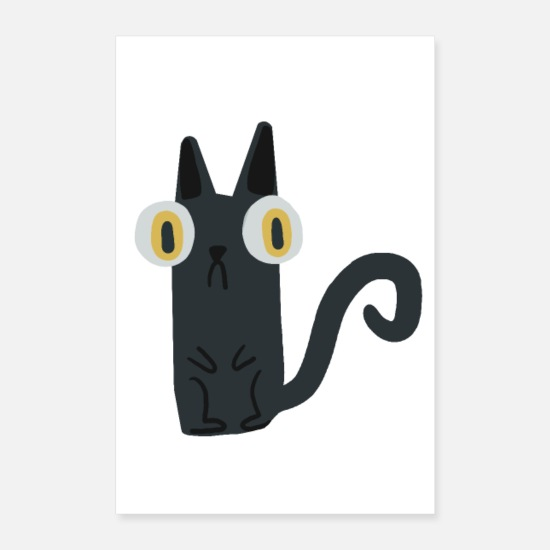Black Cat Posters - Cat - Posters white