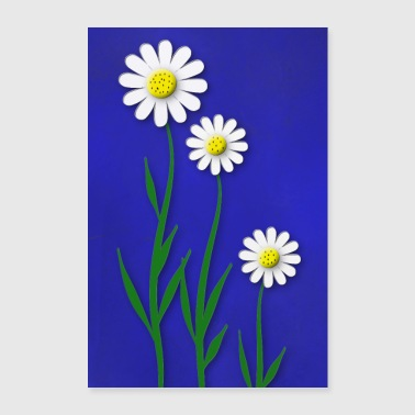 Painted flowers - Poster 24 x 35 (60x90 cm)