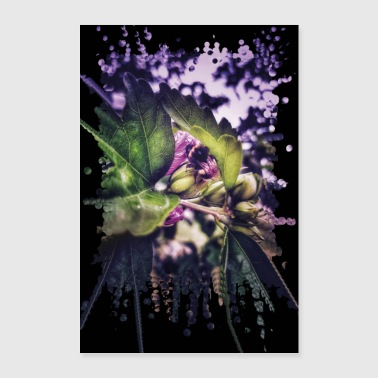 Bumblebee on hibiscus flower - Poster 24 x 35 (60x90 cm)