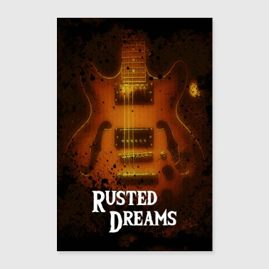Rusted Dreams | Guitar Artwork Poster - Poster 60x90 cm