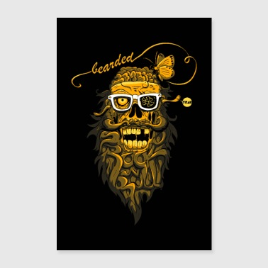 bearded Zombies poster - Poster 24 x 35 (60x90 cm)