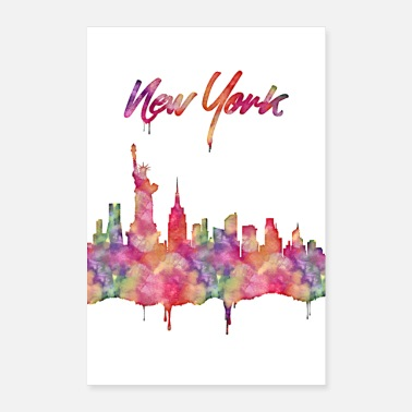 New Age New York is a cosmopolitan city. Gift idea gift - Poster 24 x 35 (60x90 cm)
