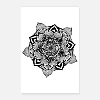 Shop lotus flower posters online spreadshirt lotus flower mandala lotus flower poster 24 x 35 60x90 cm mightylinksfo