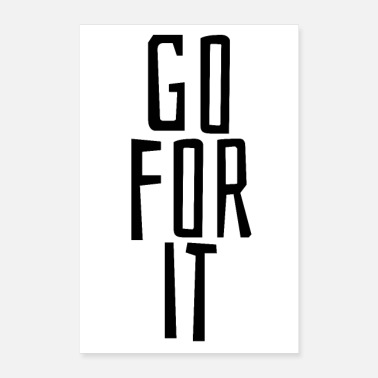 Jumpstyle go for it - Poster 24 x 35 (60x90 cm)