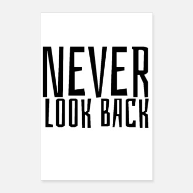 Jumpstyle NEVER LOOK BACK - Poster 24 x 35 (60x90 cm)