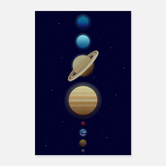 Astronomy Posters - Solar System Space Planets Poster - Posters white