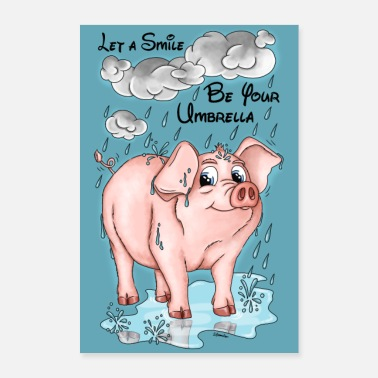 Osé Pigs Weather - Poster FR - Poster 60 x 90 cm