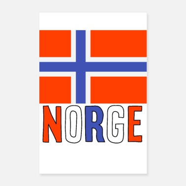 Norge Norge - Poster 60x90 cm