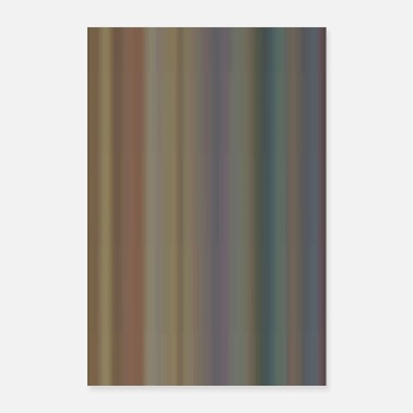 Strip Stripe pattern retro 1 - Poster