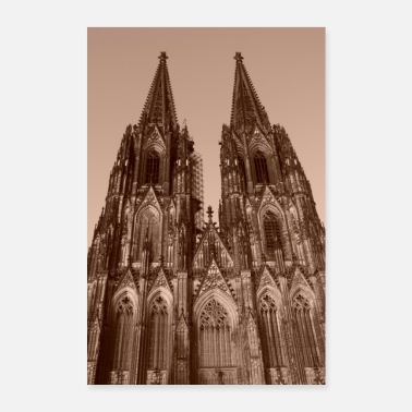 Index.php Cologne Cathedral in black and white, poster - Poster 24 x 35 (60x90 cm)