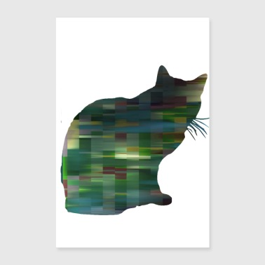 Cat patterned 1 - Poster 24 x 35 (60x90 cm)