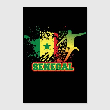 Country Senegal countries flag football flag gift - Poster 24 x 35 (60x90 cm)