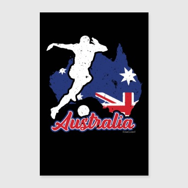 Country Australia countries flag football flag gift - Poster 24 x 35 (60x90 cm)