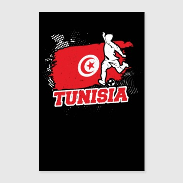 Country Tunisia countries flag football flag gift - Poster 24 x 35 (60x90 cm)