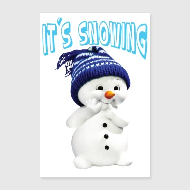 Different Snowman it s snowing - Poster 24 x 35 (60x90 cm)