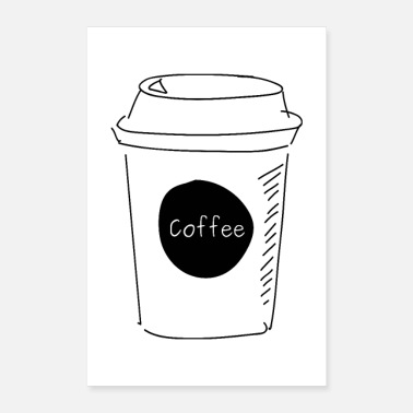 Morning Coffee to go white - Poster 24 x 35 (60x90 cm)