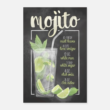 Mojito cocktailaffisch - Poster 60x90 cm