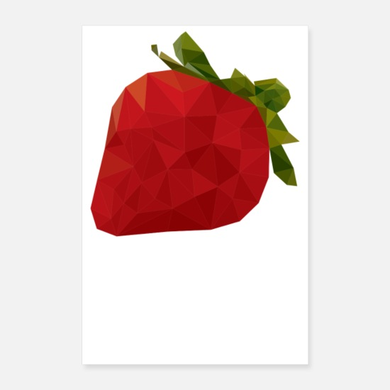 Gift Idea Posters - Strawberry - Posters white