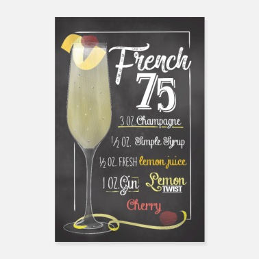 Love You French 75 Cocktail Poster Prescription Gift - Poster 24 x 35 (60x90 cm)