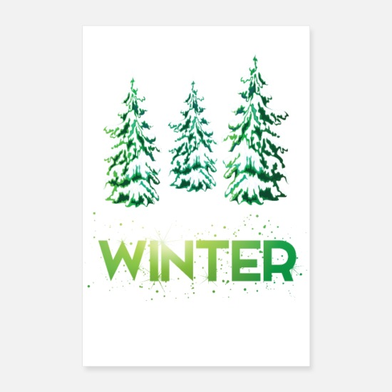 Christmassy Posters - Vintergris - Posters hvid