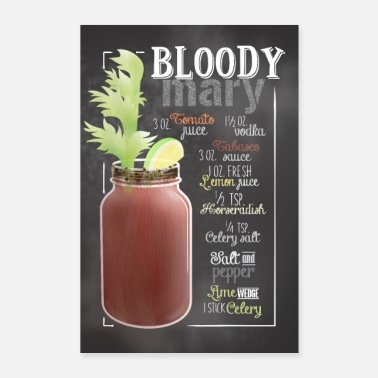 Bar Bloody Mary Cocktail Bar Geschenk - Poster 60x90 cm
