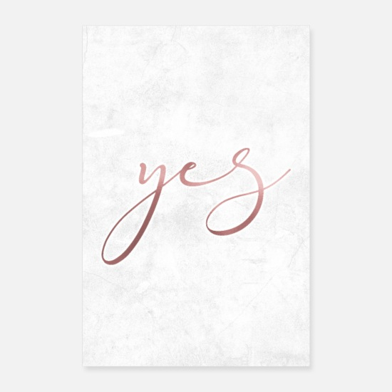 Stylo Posters - oui - Posters blanc