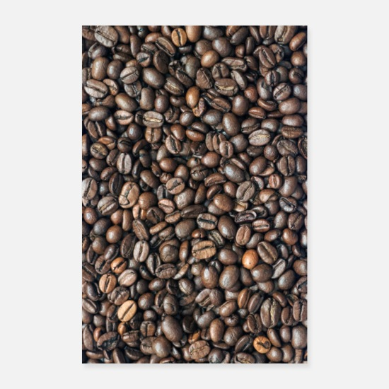 Gift Idea Posters - Roasted coffee beans - Posters white