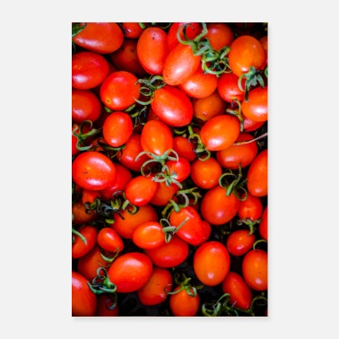 Red tomatoes with leaves - Poster 24 x 35 (60x90 cm)