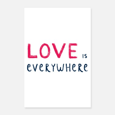 Cupid Love is everywhere - Poster 24 x 35 (60x90 cm)
