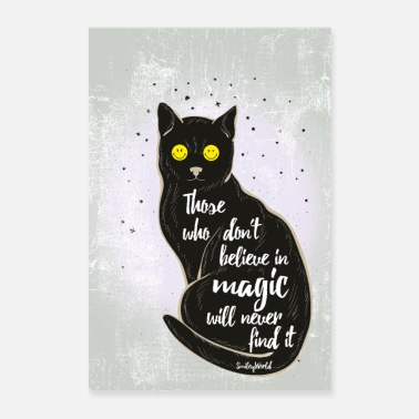 SmileyWorld Black Cat - Poster