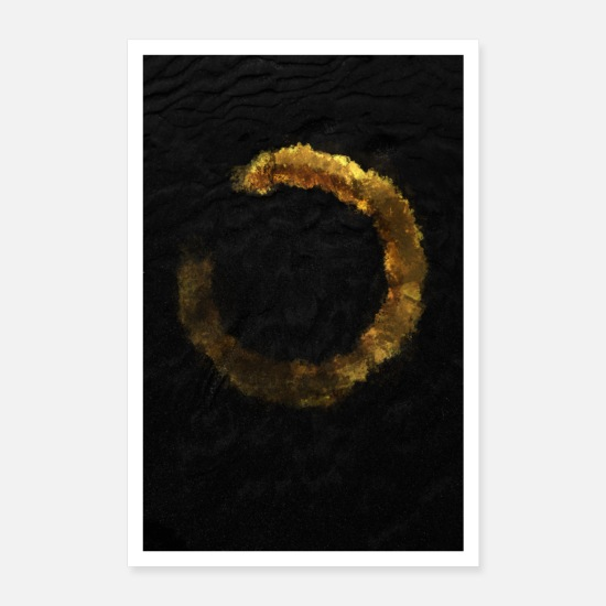 Gold Posters - Golden circle shiny design gift chic - Poster white