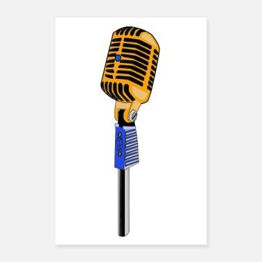 mikrofon Poster | Spreadshirt