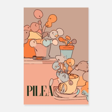 Retro Cool pilea - Poster
