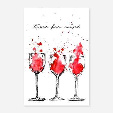 Time for wine - Poster