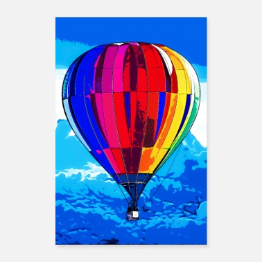 Speech Balloon Hot air balloon - Poster