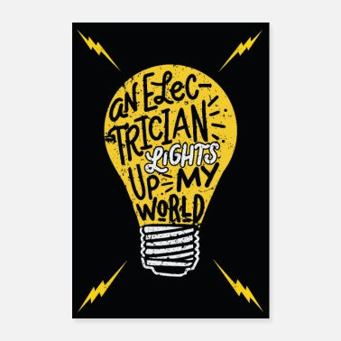 Partner Electrician woman partner gift - Poster