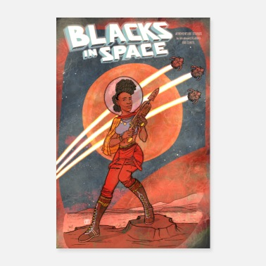 African American Blacks in Space // PULP-Version - Poster