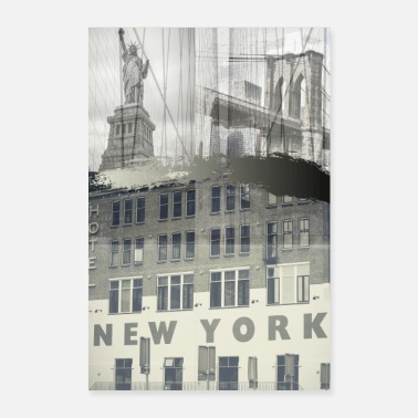 Ny NY VINTAGE COLLAGE - Poster