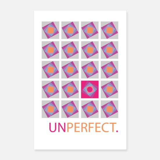 I Am Posters - Unperfect. - Posters white