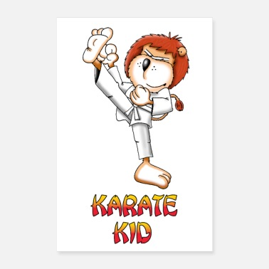 Fighter Karate lion poster - Poster