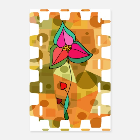 Gardening Posters - Colorful flower - Posters white