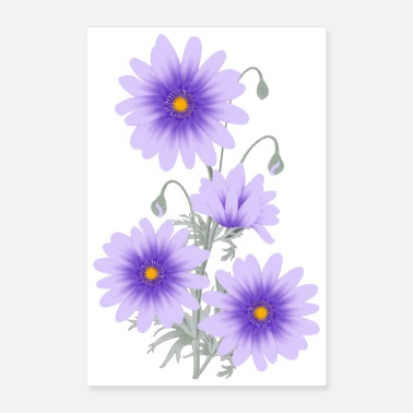 Lilac Lilac Anemones - Poster