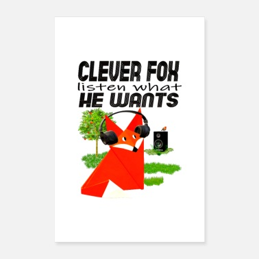 Clever clever fox - Poster