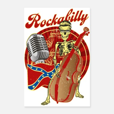 Bass Rockabilly Bass - Poster